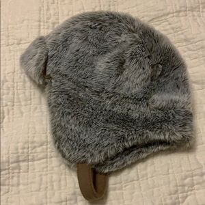 Faux fur hat for toddler
